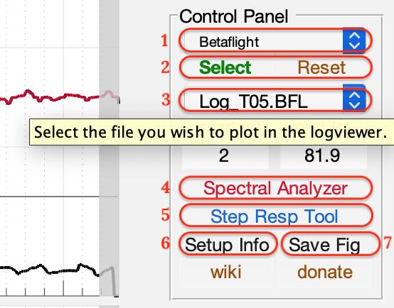 Control Panel von PIDToolbox